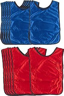 Scrimmage Vests - 12-Pack Soccer Pinnies, Team Jersey, Training Vest, Soccer Scrimmage Vests for Adults Men Women, for Bas...