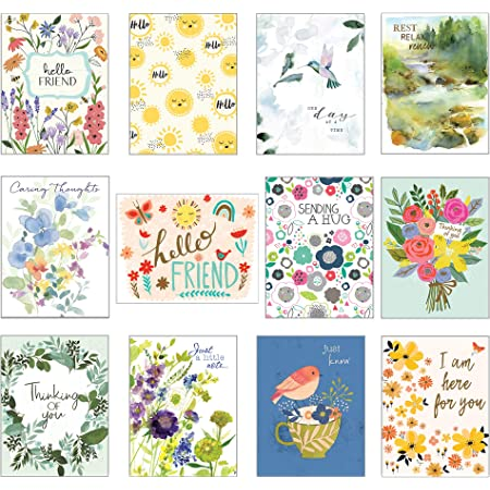 """Gina B Designs - Pack of 12 Assorted """"Thinking of You"""" Greeting Cards"""