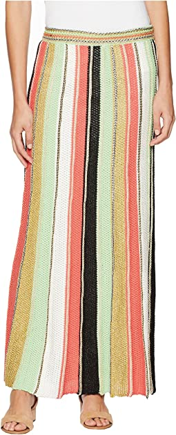 Vertical Stripe Crochet Skirt