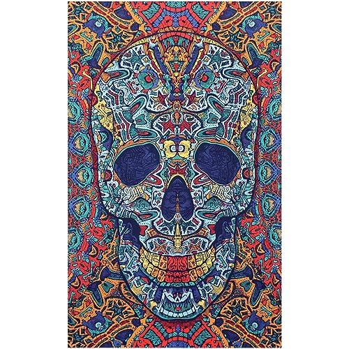 d8207d0124dd Sunshine Joy® 3D Skull Tapestry - 60X90 - Beach Sheet - Hanging Wall Art