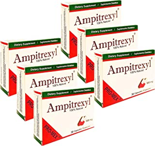 Ampitrexyl 500mg , Size: 30 Capsules x 6 Pack = 180 Capsules Total by Pro-Mex LLC