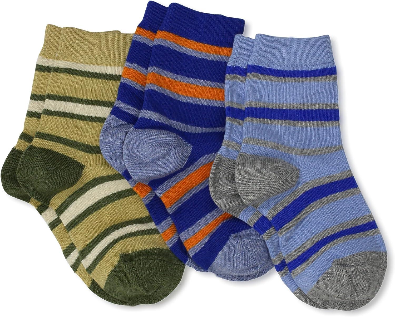 Jefferies Socks Little Boys' Rugby Stripe Triple Treat Socks (Pack of 3)