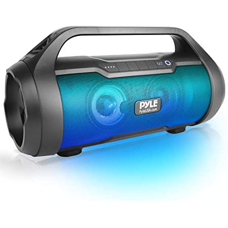"""Pyle Wireless Portable Bluetooth Boombox Speaker - 500W 2.0CH Rechargeable Boom Box Speaker Portable Barrel Loud Stereo System with AUX Input/USB/SD/Fm Radio, 3"""" Subwoofer, Voice Control - PBMWP185"""