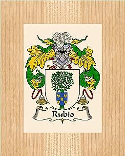 Carpe Diem Designs Rubio Coat of Arms/Rubio Family Crest 8X10 Photo Plaque, Personalized Gift, Wedding Gift