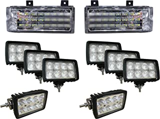 Complete LED Light Kit for Ford New Holland, Versatile, Genesis Tractors - Fits Models: 8670, 8670A, 8770, 8770A, 8870, 8870A, 8970, 8970A