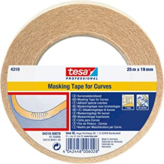 tesa 4319 Masking Tape For Curves, 19mm x 25m by tesa UK