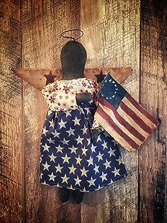 Primitive Americana Black Angel Doll