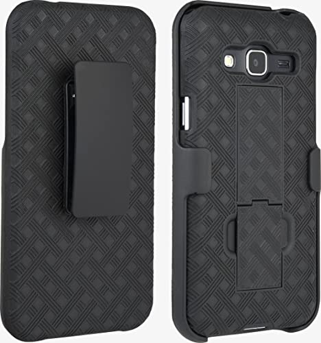 wholesale Verizon popular Rubberized 2021 Shell Holster for  Samsung Galaxy J3 V - Black outlet sale