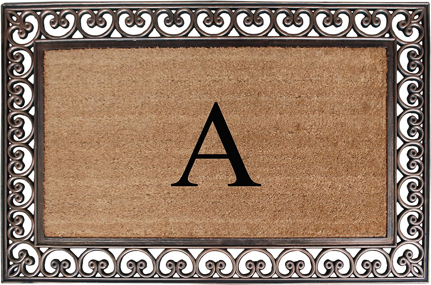 A1 HOME COLLECTIONS Rubber and Coir Classic Paisley Border, Double Doormat, X-Large(A1HOME200085A)