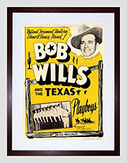 The Art Stop Music Artist BOB Willis Texas PLAYBOYS Western Country Framed Print B12X5617