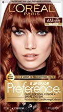 L'Oreal Paris Superior Preference Fade-Defying + Shine Permanent Hair Color, 6AB Chic Auburn Brown, Pack of 1, Hair Dye