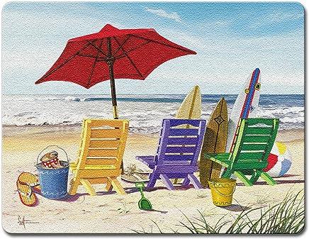 Beachy Keen - Large Glass Cutting Board
