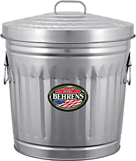Behrens Manufacturing 6210 Galvanized Steel Trash Can, 10 Gallon, Multicolor