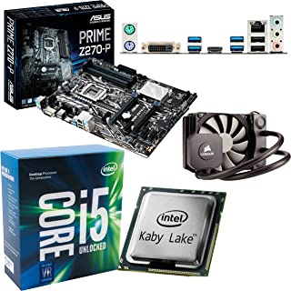 Components4All INTEL Kaby Lake Core i5 7600K OC 5,0 Ghz CPU, ASUS Prime Z270-P moderkort och Corsair H45 flytande kylare ö...