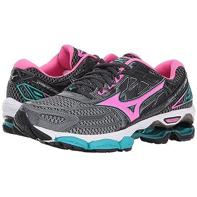 Mizuno Wave Creation 19 (Castlerock/Pink Glow/Black) Girls Shoes