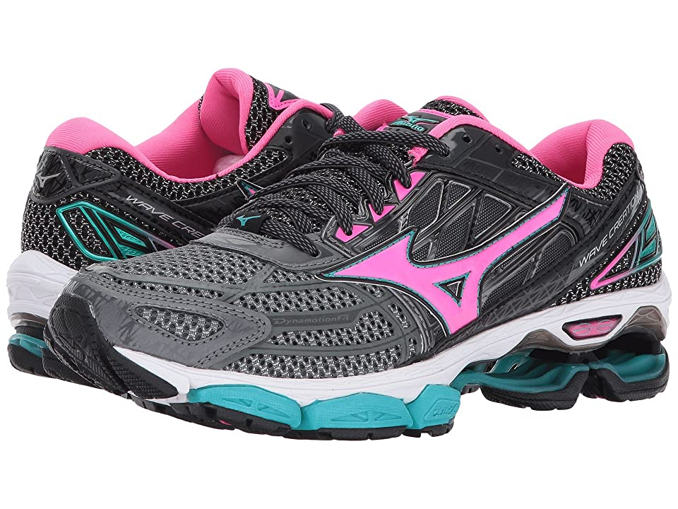 Mizuno Wave Creation 19 (Castlerock/Pink Glow/Black) Girls Shoes