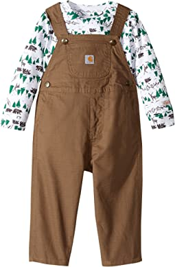 Carhartt Kids - Room to Roam Overalls Set (Infant)