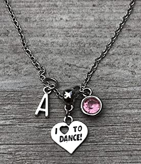 Personalized Dance Necklace, Dance Jewelry, Ballet Necklace, Perfect Gift For Dancers, Dance Recitals, Dance Teams & Dance Teachers