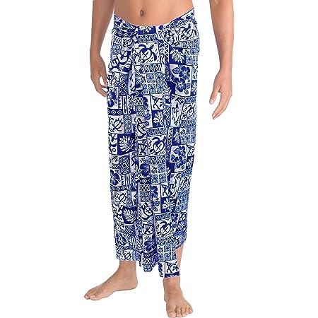 LA LEELA Maillots de Bain pour Hommes Nager Beachwear Wrap Maillot par/éo Cadeau Costume Couvrir de Bain Bleu