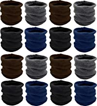 Winter Neck Gaiter, 12 Pack, Fleece Lined Interior Warm Cold Weather Scarf Wrap Gift, Mens Womens Unisex
