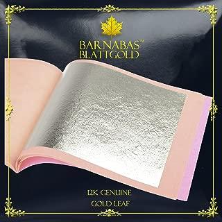 Genuine Gold Leaf Sheets 12k - by Barnabas Blattgold - 3.4 inches - 25 Sheets Booklet - Loose Leaf
