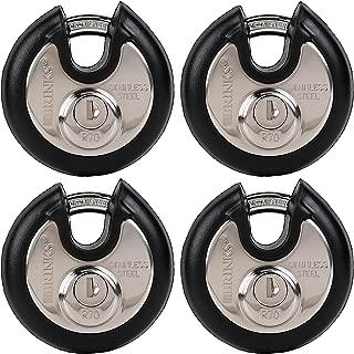 BRINKS Home Security 673-70401 Discus Lock 4 Pack, All Keyed Alike