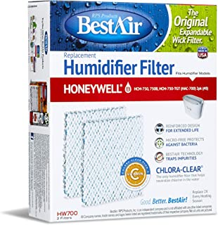 BestAir HW700-PDQ-3 Extended Life Humidifier Replacement Paper Wick Humidifier Filter, For Honeywell HCM750, 750-TGT (HAC-700), 5.9