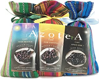 La Azotea Estate Coffee Antigua Guatemala | 100% Arabica Gourmet Coffee Sampler/Gift Set | Medium Roast Americano/Medium + Roast Full City/Dark Roast Espresso (Ground)