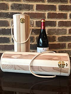 Pro Image Wine Natural Wood Gift Box   Bottle Carrier case Spirits, Liquor, Champagne Decorative & Durable