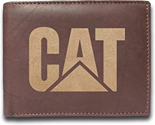 CAT Caterpillar Leather Wallet Engraved - Perfect Gift...