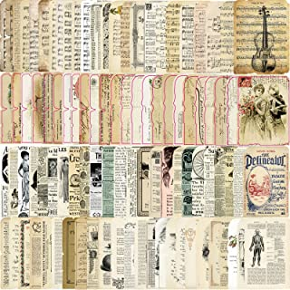 Vintage Journaling Scrapbooking Supplies Retro Scrapbooking Paper Craft Kits for Arts Crafts, Collage Album, Bullet Journa...