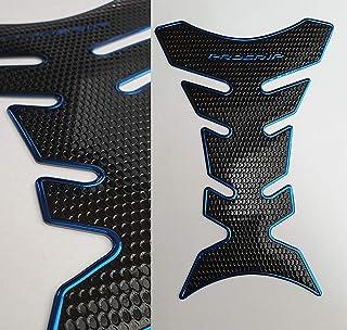 Tankpad Tankschutz Motorrad Carbon Optik Blau Schwarz universal