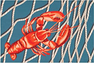 "Liora Manne ILU12329733 Illusions Lobster Net Indoor Outdoor Washable Area Rug, 1'7.5"" x 2'5.5"""