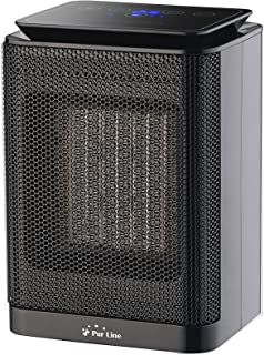 PURLINE HOTI F20 Calefactor cerámico con termostato Regulable 750-1500W, Sensor antivuelco. Calefactor para Cocina, Comedor, Dormitorio, Oficina,etc.