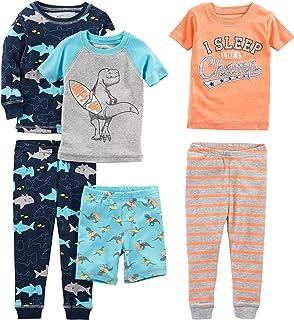 شادی های ساده توسط لباس کارتر کودک ، کودک کوچک و کودک نوپا 6 قطعه Snug Fit پنبه لباس خواب لباس خواب
