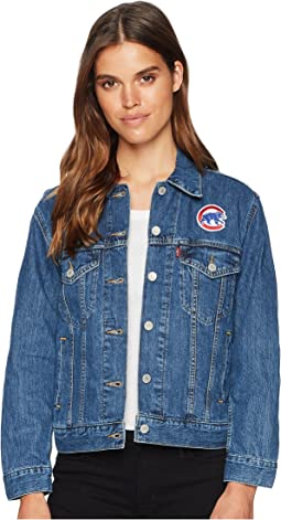 Levi's® Womens Chicago Cubs Patch Trucker Jacket