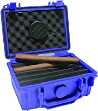 F.e.s.s. Armour Waterproof Crushproof Airtight Floats On Water Solid Blue Travel Cigar Humidor Capacity 10-15 Cigars