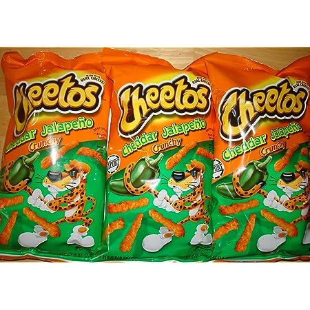Cheetos jalapeno cheddar crunchy 3 x 8oz bags