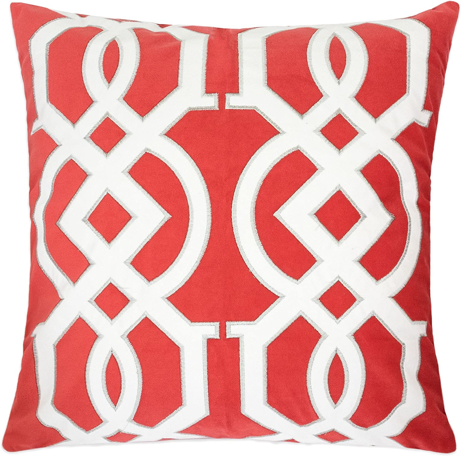 Homey COZY Applique Coral Velvet Pillow S Max Our shop OFFers the best service 82% OFF Cover Throw Passionate