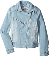 Urban Republic Kids - Light Wash Moto with Rhinestone Detail (Little Kids/Big Kids)