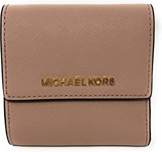 263539e96412 Michael Kors Jet Set Travel Small Card Case Trifold Carryall Leather Wallet