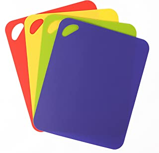 Dexas Heavy Duty Grippmat Flexible Cutting Board Set of Four, 11.5 by 14 inches, Blue, Green, Yellow, Red