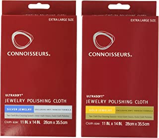 Connoisseurs Polishing Cloth Kit Jewelry Cleaner, Violet