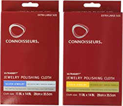 CONNOISSEURS Polishing Cloth Kit Jewelry Cleaner Violet