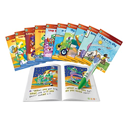 LeapFrog LeapReader System Learn to Read 10 Book Bundle (English Version)