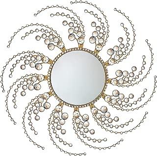 Meida Decorative Starburst Mirror,Metal Wall Mirror,Wall Hanging Mirror in Sunburst Shape (Circle)