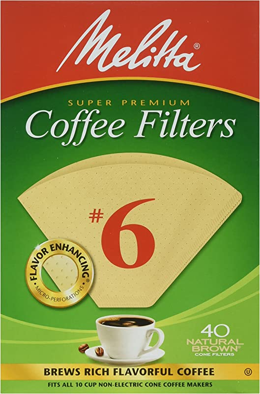 Melitta Cone Coffee Filters Number 6 40 Count Pack Of 2