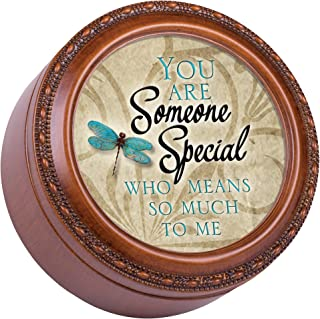 Cottage Garden You are Someone Special to Me Woodgrain Rope Trim Jewelry Music Box Plays What Friends are for