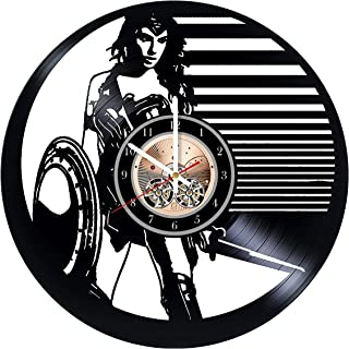 Wonder Woman Vinyl Record Wall Clock 12