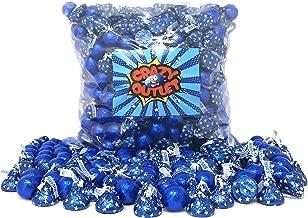 CrazyOutlet Pack - Hershey's Kisses Dark Blue Star, Navy Blue Foil Candy Balls Milk Chocolate Candy Assortment Bulk, 2Lbs